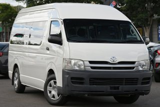 2009 Toyota HiAce KDH223R MY10 Commuter High Roof Super LWB White 4 Speed Automatic Bus.