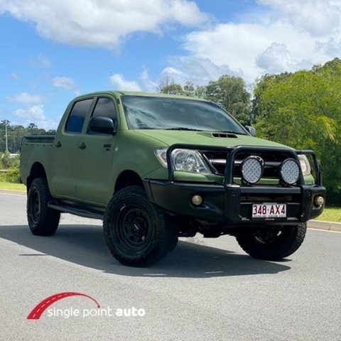 Used Toyota Hilux KUN26R MY08 SR Chevallum, 2008 Toyota Hilux KUN26R MY08 SR Green 5 Speed Manual Utility