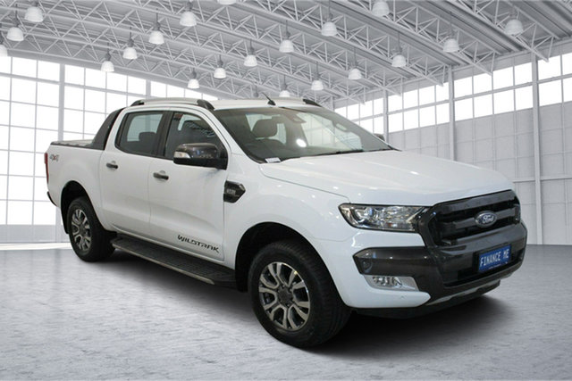 Used Ford Ranger PX MkII 2018.00MY Wildtrak Double Cab Victoria Park, 2017 Ford Ranger PX MkII 2018.00MY Wildtrak Double Cab White 6 Speed Sports Automatic Utility