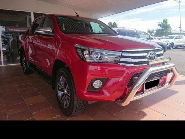 Pre-Owned Toyota Hilux GUN126R SR5 (4x4) Innisfail, 2015 Toyota Hilux GUN126R SR5 (4x4) Olympia Red 6 Speed Manual Dual Cab Utility