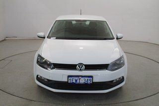 2015 Volkswagen Polo 6R MY15 66TSI Trendline White 5 Speed Manual Hatchback.