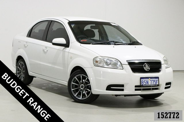 Used Holden Barina TK MY09 Bentley, 2009 Holden Barina TK MY09 White 4 Speed Automatic Sedan