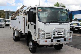 2009 Isuzu NPS300 White Manual Tray Truck.