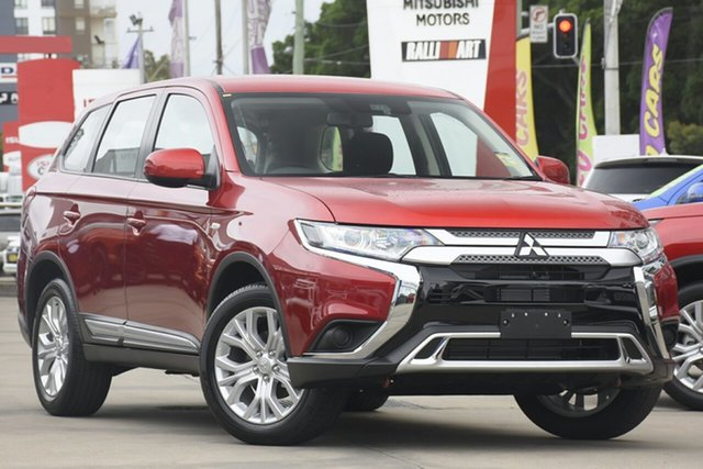 New Mitsubishi Outlander ZL MY21 ES 2WD Mount Gravatt, 2020 Mitsubishi Outlander ZL MY21 ES 2WD Red Diamond 6 Speed Constant Variable Wagon
