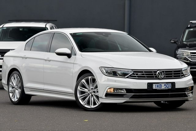Used Volkswagen Passat 3C (B8) MY16 140TDI DSG Highline Moorabbin, 2016 Volkswagen Passat 3C (B8) MY16 140TDI DSG Highline White 6 Speed Sports Automatic Dual Clutch