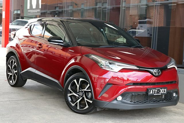Pre-Owned Toyota C-HR NGX10R Koba S-CVT 2WD Preston, 2018 Toyota C-HR NGX10R Koba S-CVT 2WD Atomic Rush & Black Roof 7 Speed Constant Variable Wagon