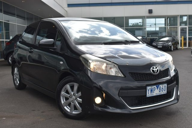 Used Toyota Yaris NCP131R ZR Essendon Fields, 2011 Toyota Yaris NCP131R ZR Black 5 Speed Manual Hatchback