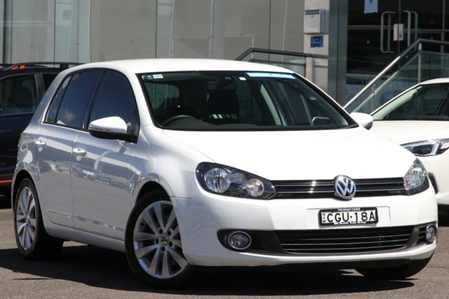Pre-Owned Volkswagen Golf VI MY12.5 118TSI DSG Comfortline Brookvale, 2012 Volkswagen Golf VI MY12.5 118TSI DSG Comfortline White 7 Speed Sports Automatic Dual Clutch
