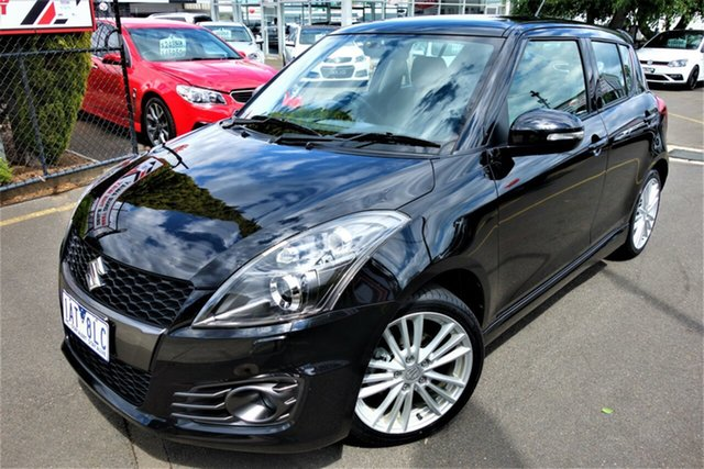 Used Suzuki Swift FZ MY14 Sport Seaford, 2014 Suzuki Swift FZ MY14 Sport Black 6 Speed Manual Hatchback