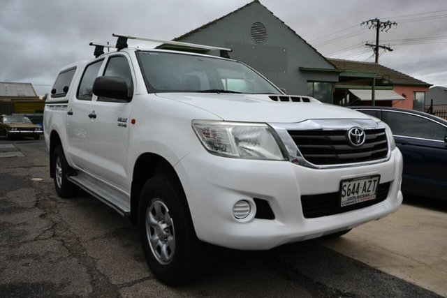 Used Toyota Hilux KUN26R MY12 SR (4x4) Blair Athol, 2013 Toyota Hilux KUN26R MY12 SR (4x4) White 4 Speed Automatic Dual Cab Pick-up