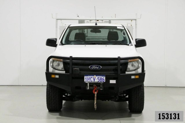 Used Ford Ranger PX XL 3.2 (4x4) Bentley, 2014 Ford Ranger PX XL 3.2 (4x4) White 6 Speed Automatic Cab Chassis