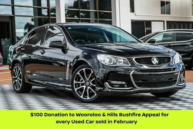 Used Holden Commodore VF II MY16 SS V Attadale, 2016 Holden Commodore VF II MY16 SS V Black 6 Speed Manual Sedan