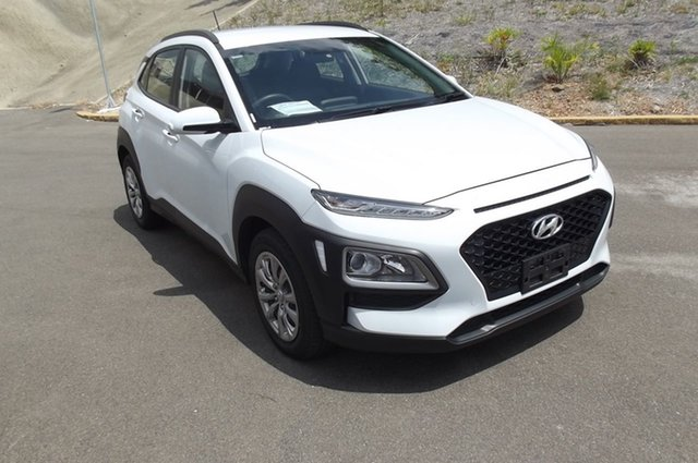 Used Hyundai Kona OS.2 MY19 Go 2WD South Gladstone, 2019 Hyundai Kona OS.2 MY19 Go 2WD White 6 Speed Sports Automatic Wagon