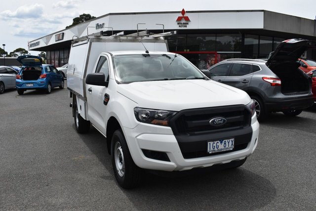 Used Ford Ranger PX MkII XL Hi-Rider Wantirna South, 2015 Ford Ranger PX MkII XL Hi-Rider White 6 Speed Sports Automatic Cab Chassis