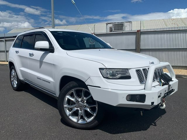 Used Jeep Grand Cherokee WK MY2014 Overland Moonah, 2013 Jeep Grand Cherokee WK MY2014 Overland White 8 Speed Sports Automatic Wagon