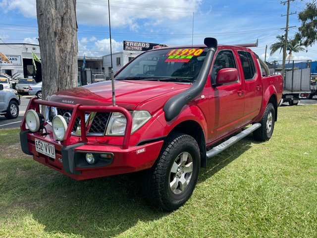 Used Nissan Navara D40 MY10 ST-X Clontarf, 2010 Nissan Navara D40 MY10 ST-X Red 6 Speed Manual Utility