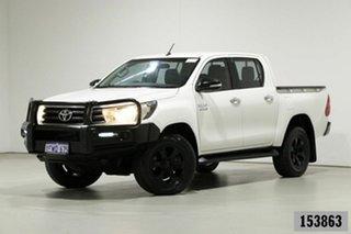 2016 Toyota Hilux GUN126R SR (4x4) White 6 Speed Manual Dual Cab Utility.