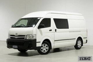 2013 Toyota HiAce KDH221R MY12 Upgrade SLWB White 5 Speed Manual Van.