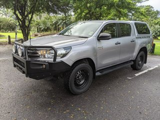 2017 Toyota Hilux GUN126R SR Double Cab Silver 6 Speed Sports Automatic Utility
