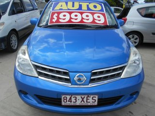 2012 Nissan Tiida C11 S3 ST Blue 4 Speed Automatic Hatchback.