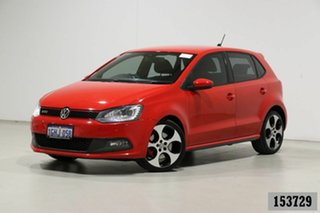 2013 Volkswagen Polo 6R MY13 GTi Red 7 Speed Auto Direct Shift Hatchback.