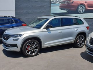 2020 Skoda Kodiaq NS MY20.5 RS DSG Silver 7 Speed Sports Automatic Dual Clutch Wagon.
