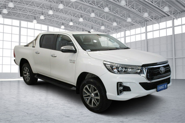 Used Toyota Hilux GUN126R SR5 Double Cab Victoria Park, 2020 Toyota Hilux GUN126R SR5 Double Cab White 6 Speed Sports Automatic Utility