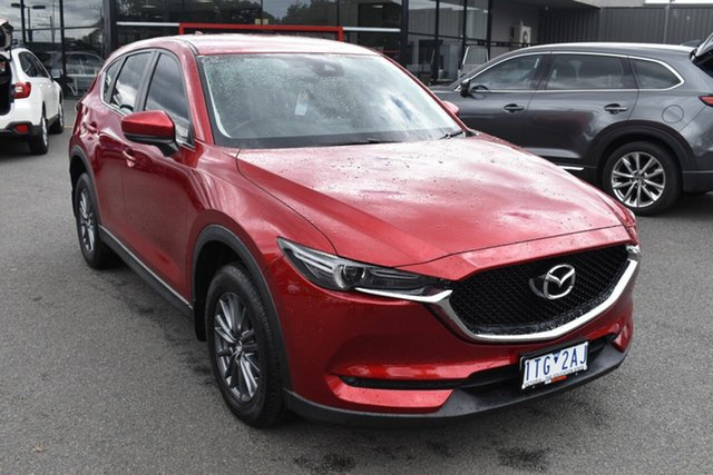 Used Mazda CX-5 KE1022 Maxx SKYACTIV-Drive i-ACTIV AWD Sport Wantirna South, 2017 Mazda CX-5 KE1022 Maxx SKYACTIV-Drive i-ACTIV AWD Sport Red/Black 6 Speed Sports Automatic