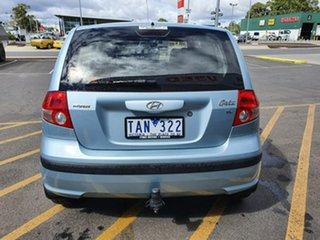 2004 Hyundai Getz TB MY04 XL Blue 4 Speed Automatic Hatchback