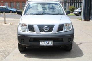 2010 Nissan Navara D40 RX (4x4) Silver 6 Speed Manual Cab Chassis.