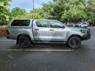 2017 Toyota Hilux GUN126R SR Double Cab Silver 6 Speed Sports Automatic Utility.