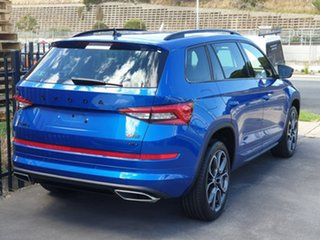 2019 Skoda Kodiaq NS MY20 RS DSG Blue 7 Speed Sports Automatic Dual Clutch Wagon