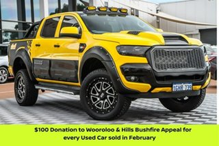 2017 Ford Ranger PX MkII XLS Double Cab Yellow 6 Speed Sports Automatic Utility.