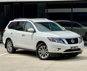 2014 Nissan Pathfinder R52 MY14 ST X-tronic 2WD White 1 Speed Constant Variable Wagon.