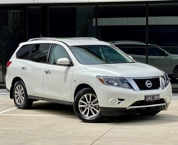 Used Nissan Pathfinder R52 MY14 ST X-tronic 2WD Templestowe, 2014 Nissan Pathfinder R52 MY14 ST X-tronic 2WD White 1 Speed Constant Variable Wagon