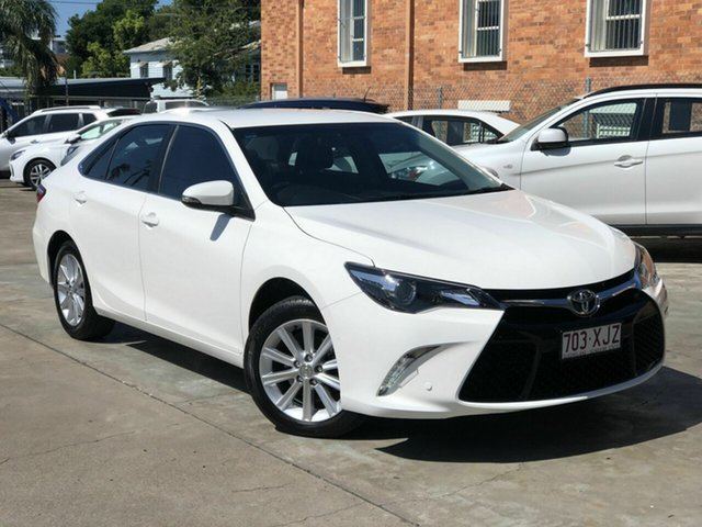 Used Toyota Camry ASV50R Atara S Chermside, 2017 Toyota Camry ASV50R Atara S White 6 Speed Sports Automatic Sedan