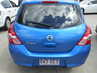 2012 Nissan Tiida C11 S3 ST Blue 4 Speed Automatic Hatchback