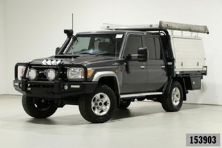 2017 Toyota Landcruiser LC70 VDJ79R MY17 GXL (4x4) Grey 5 Speed Manual Double Cab Chassis.