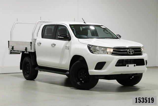Used Toyota Hilux GUN126R SR (4x4) Bentley, 2016 Toyota Hilux GUN126R SR (4x4) White 6 Speed Manual Dual Cab Chassis