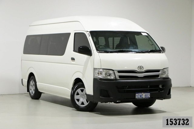 Used Toyota HiAce KDH223R MY12 Upgrade Commuter Bentley, 2013 Toyota HiAce KDH223R MY12 Upgrade Commuter White 5 Speed Manual Bus