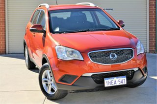 2011 Ssangyong Korando C200 S 2WD Orange 6 Speed Sports Automatic Wagon.