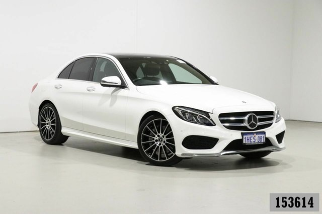 Used Mercedes-Benz C300 205 MY18 Bentley, 2018 Mercedes-Benz C300 205 MY18 White 9 Speed Automatic G-Tronic Sedan