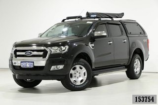2016 Ford Ranger PX MkII XLT 3.2 (4x4) Black 6 Speed Automatic Double Cab Pick Up.