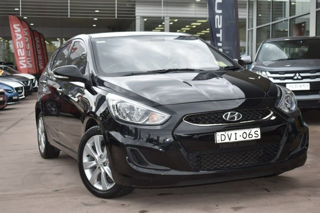 Used Hyundai Accent RB6 MY18 Sport Blacktown, 2018 Hyundai Accent RB6 MY18 Sport Black 6 Speed Manual Hatchback