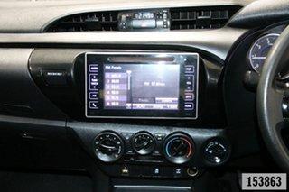 2016 Toyota Hilux GUN126R SR (4x4) White 6 Speed Manual Dual Cab Utility