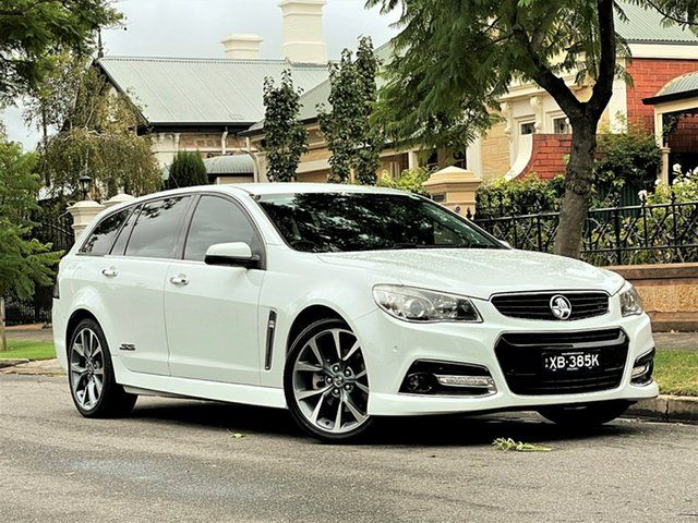 Used Holden Commodore VF MY14 SS V Sportwagon Hyde Park, 2014 Holden Commodore VF MY14 SS V Sportwagon White 6 Speed Sports Automatic Wagon