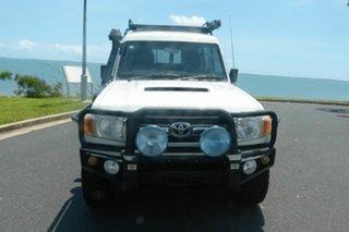 2010 Toyota Landcruiser VDJ78R MY10 GXL Troopcarrier White 5 Speed Manual Wagon