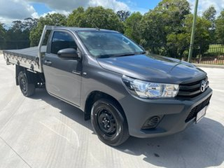 2017 Toyota Hilux TGN121R Workmate 4x2 Grey 5 Speed Manual Cab Chassis.