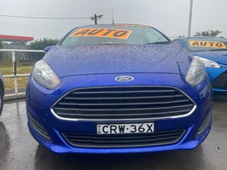 2014 Ford Fiesta WZ Ambiente PwrShift Blue 6 Speed Sports Automatic Dual Clutch Hatchback.