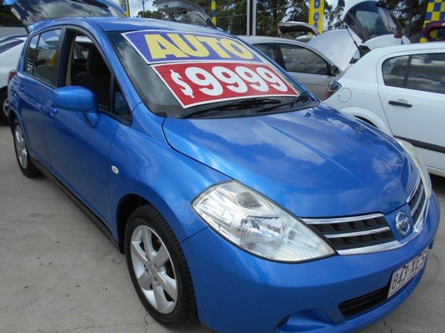 Used Nissan Tiida C11 S3 ST Springwood, 2012 Nissan Tiida C11 S3 ST Blue 4 Speed Automatic Hatchback